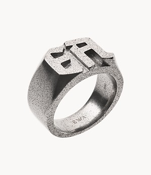 Emporio Armani Men's Stainless Steel Cocktail Ring