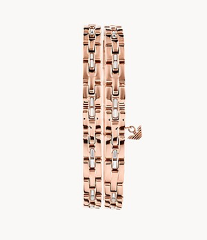 Emporio Armani Rose Gold-Tone Stainless Steel Double-Wrap Chain Bracelet