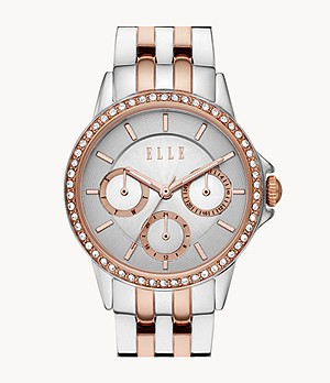 ELLE Bercy Multifunction Two-Tone Stainless Steel Watch