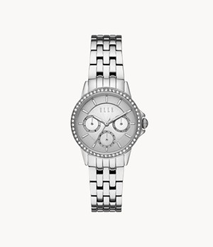 ELLE Bercy Multifunction Stainless Steel Watch