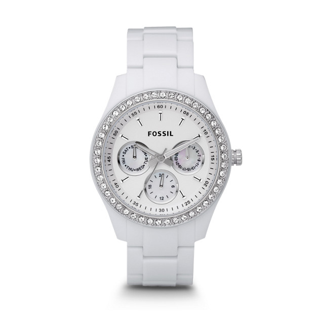 Stella Multifunction White Resin Watch
