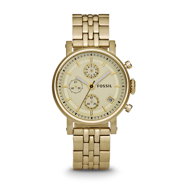 original boyfriend chronograph gold tone stainless steel