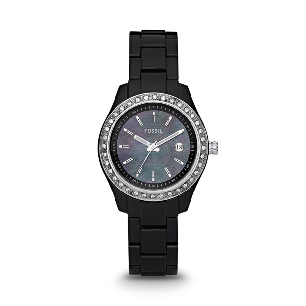 Stella Mini Resin Watch - Black
