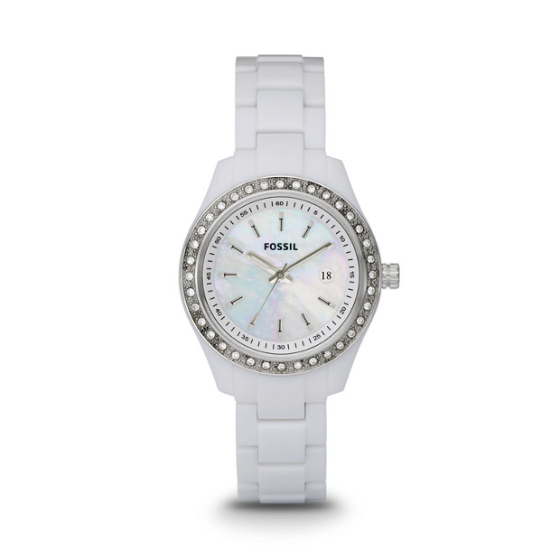 Stella Mini White Resin Watch