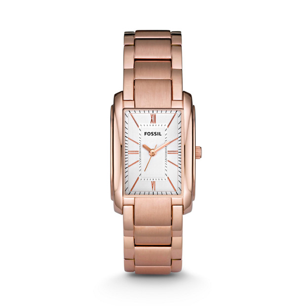 Adele Three Hand Stainless Steel Watch - Rose