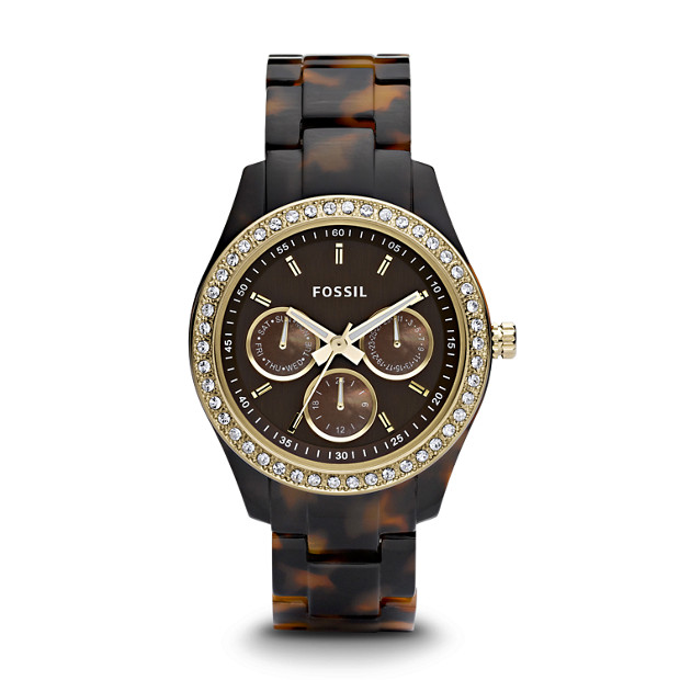 Stella Multifunction Tortoise Resin Watch