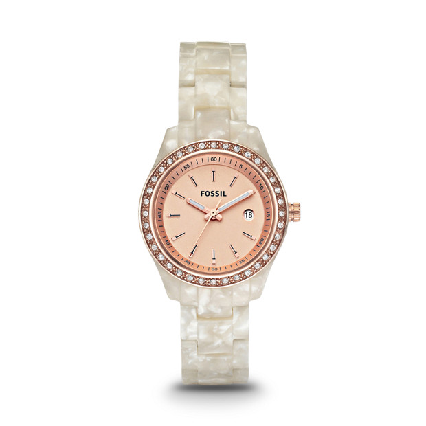 Stella Mini Pearlized White Resin Watch