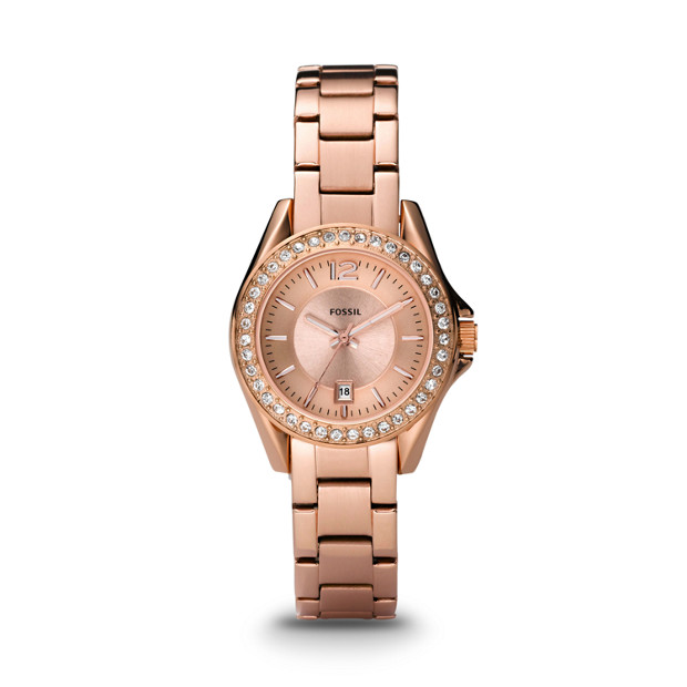 Riley Mini Rose-Tone Stainless Steel Watch