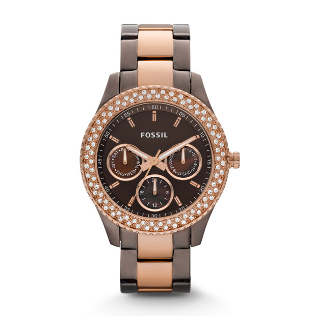 Stella Multifunction Smoke & Rose-Tone Stainless Steel Watch