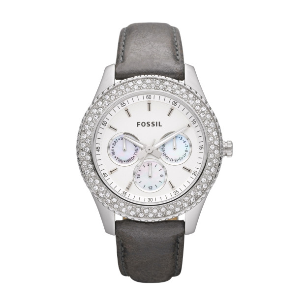 Stella Leather Watch - Pewter
