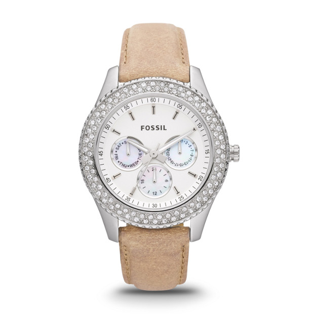 Stella Multifunction Leather Watch - Sand