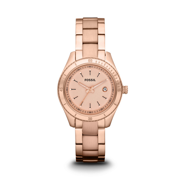 Stella Mini Three-Hand Stainless Steel Watch - Rose