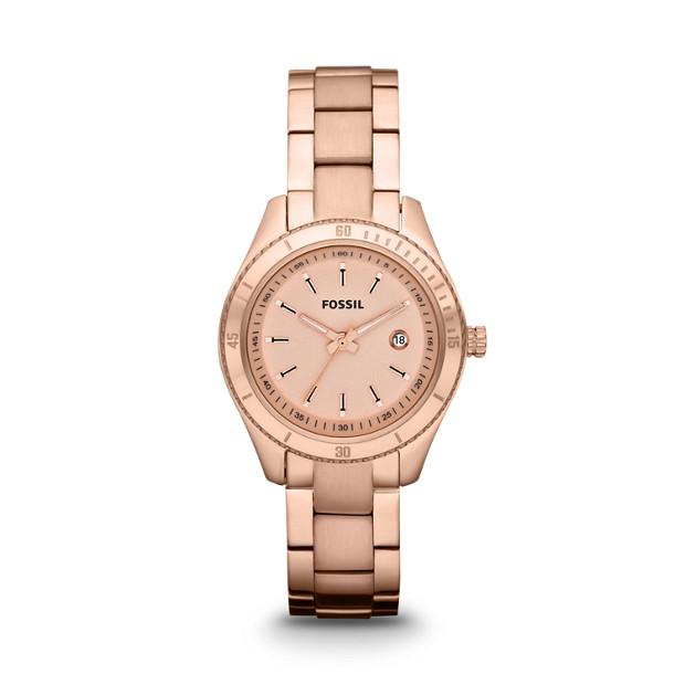 Stella Mini Three-Hand Stainless Steel Watch - Rose