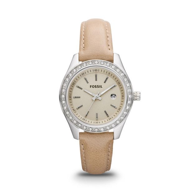 Stella Mini Leather Watch - Sand