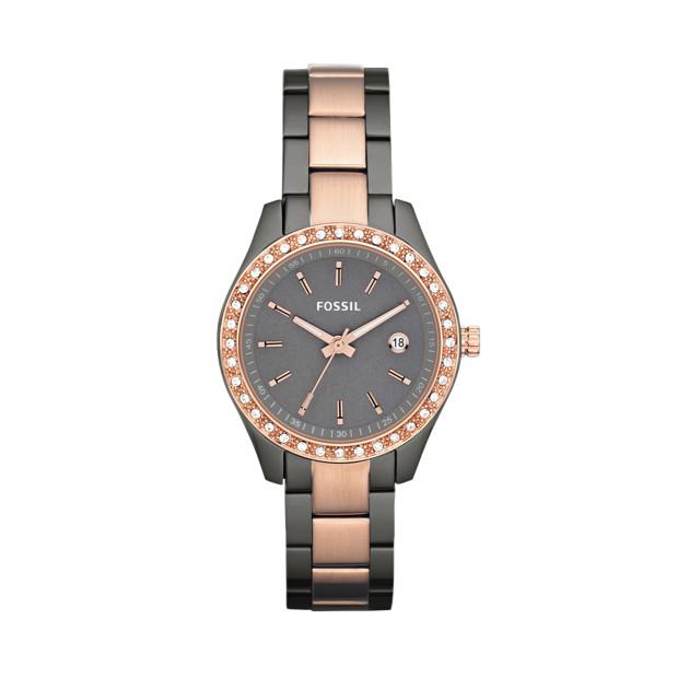 Stella Mini Stainless Steel Watch – Smoke and Rose