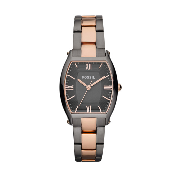 Wallace Stainless Steel Watch – Smoke and Rose