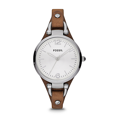 Georgia Brown Leather Watch