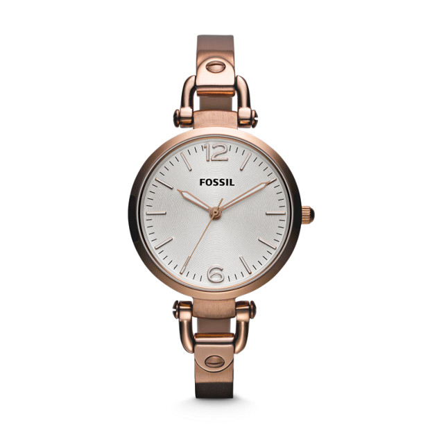 Georgia Rose-Tone Stainless Steel Watch