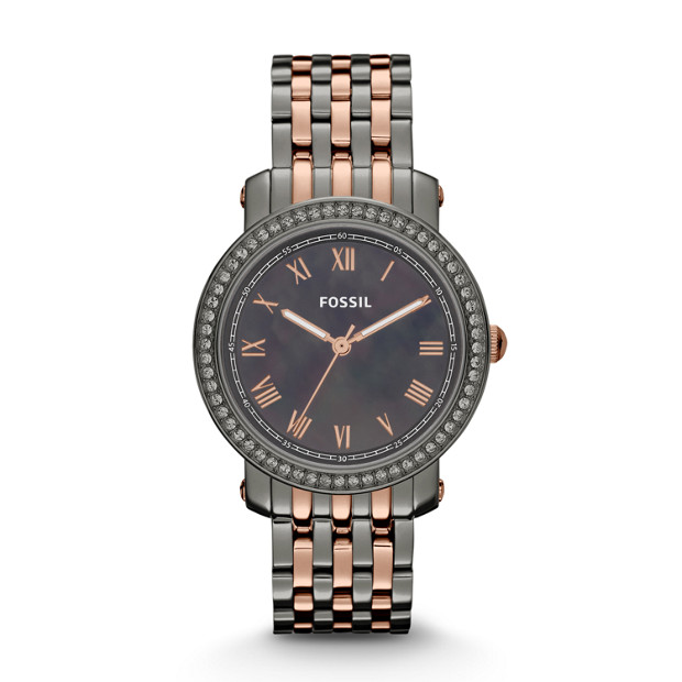 Emma Three Hand Stainless Steel Watch - Two-Tone