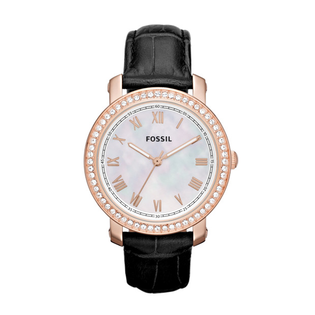 Emma Leather Watch - Black