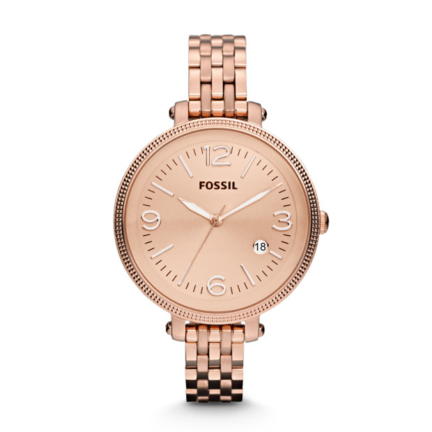 Heather Three-Hand Stainless Steel Watch - Rose