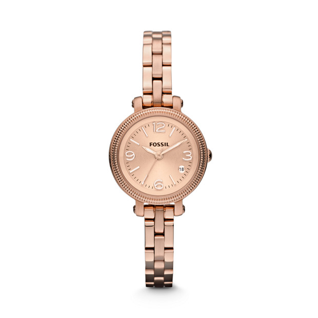 Heather Mini Rose-Tone Stainless Steel Watch