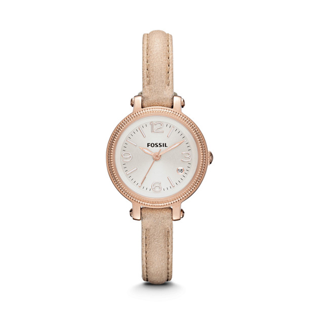 Heather Mini Sand Leather Watch
