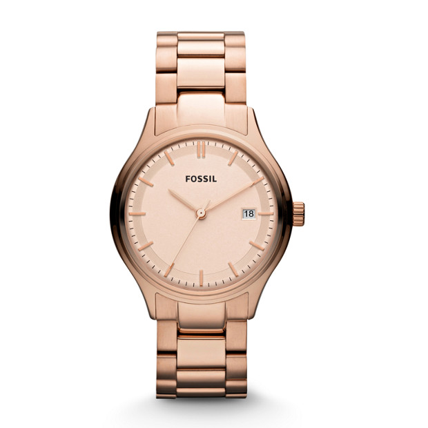 Archival Three Hand Stainless Steel Watch – Rose