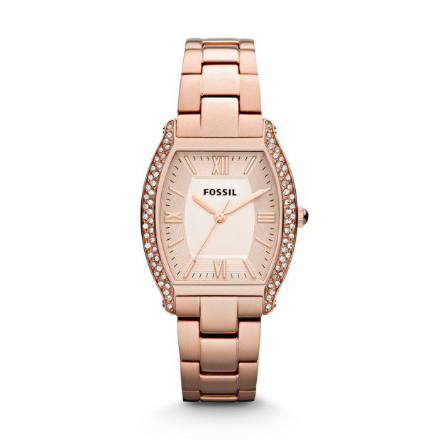 Wallace Three Hand Stainless Steel Watch - Rose