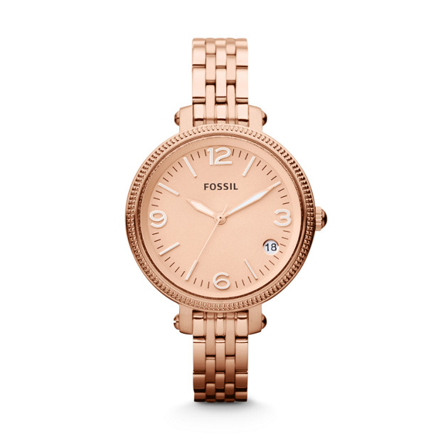 Heather Mid-Size Three-Hand Stainless Steel Watch – Rose