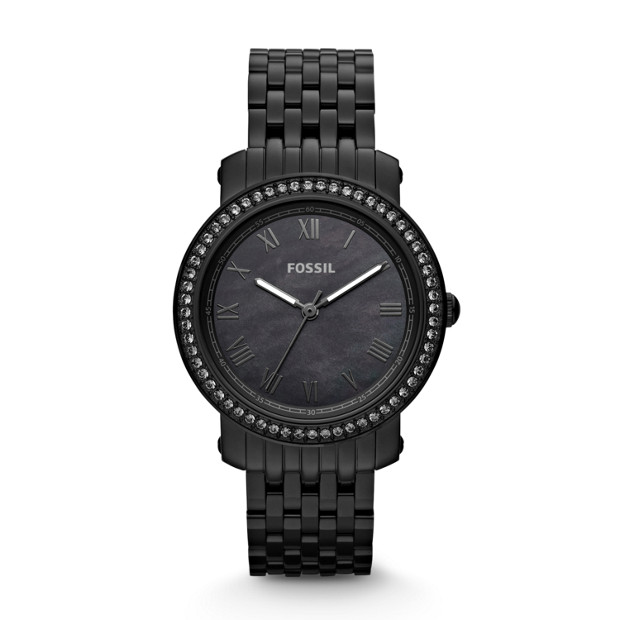 Emma Stainless Steel Watch – Black