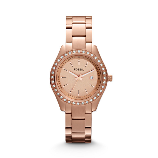 Stella Mini Rose-Tone Stainless Steel Watch