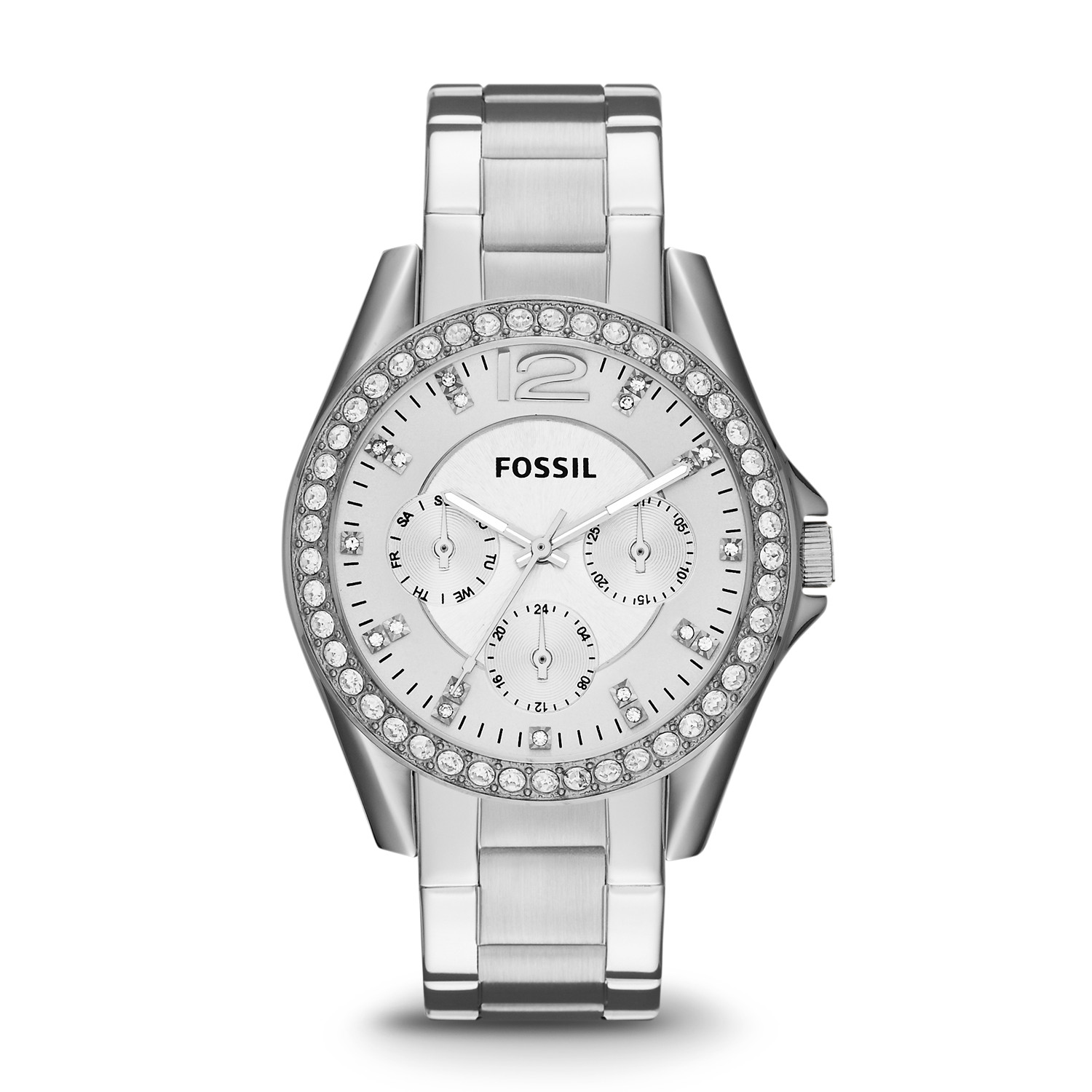 Fossil Analog Watch Features Dbsecurity Fs5176 Riley Multifunction Stainless Steel