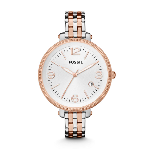 Heather Three-Hand Stainless Steel Watch - Two-Tone