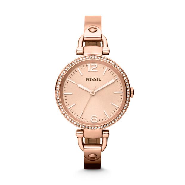 Georgia Rose-Tone Stainless Steel Watch