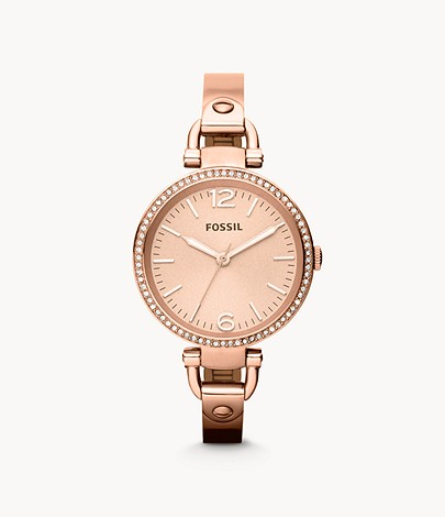 fossil rose gold 2015 ladies watch