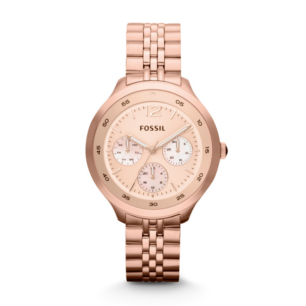 The Editor Multifunction Stainless Steel Watch - Rose
