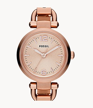 Georgia Mini Rose-Tone Stainless Steel Watch