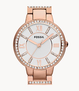 Montre Virginia en acier inoxydable rosé