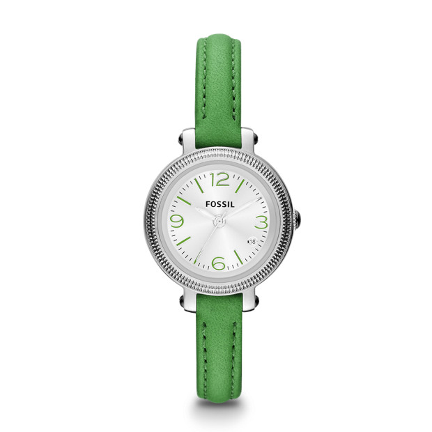 Heather Three Hand Leather Watch - Green
