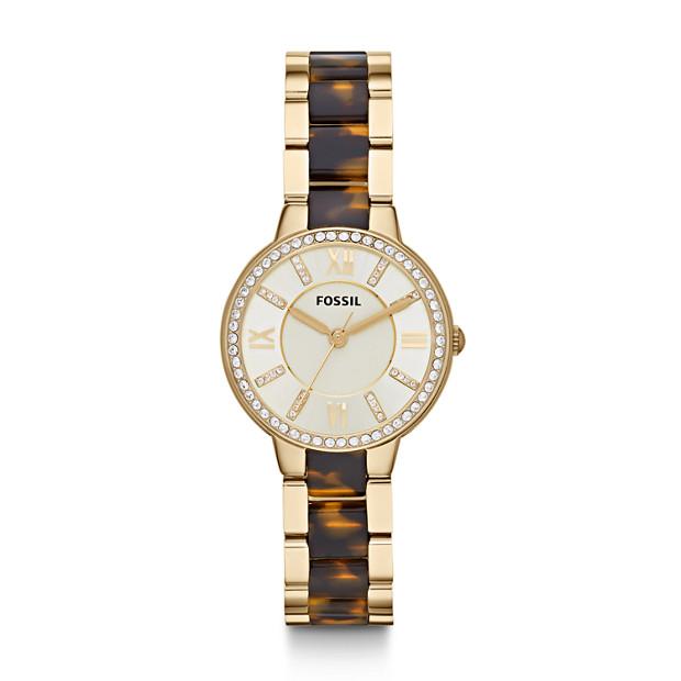 Virginia Gold-Tone & Tortoise Stainless Steel Watch