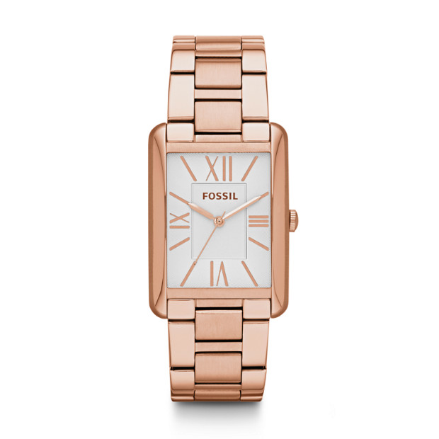 Florence Three-Hand Stainless Steel Watch - Rose