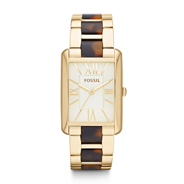 Florence Gold-Tone & Tortoise Stainless Steel Watch
