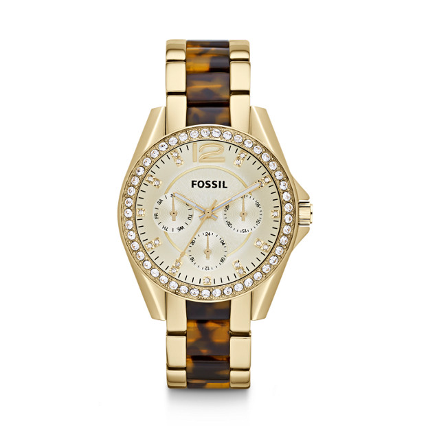 Riley Multifunction Stainless Steel Watch – Gold-Tone with Tort