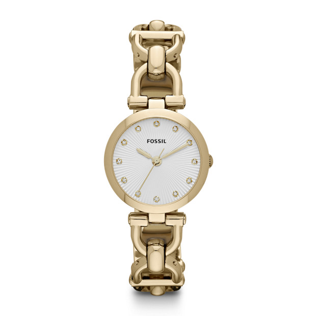 Olive Three-Hand Stainless Steel Watch - Gold-Tone