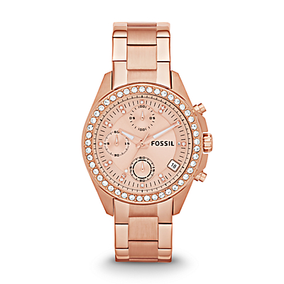 Decker Chronograph Rose-Tone Stainless Steel Watch