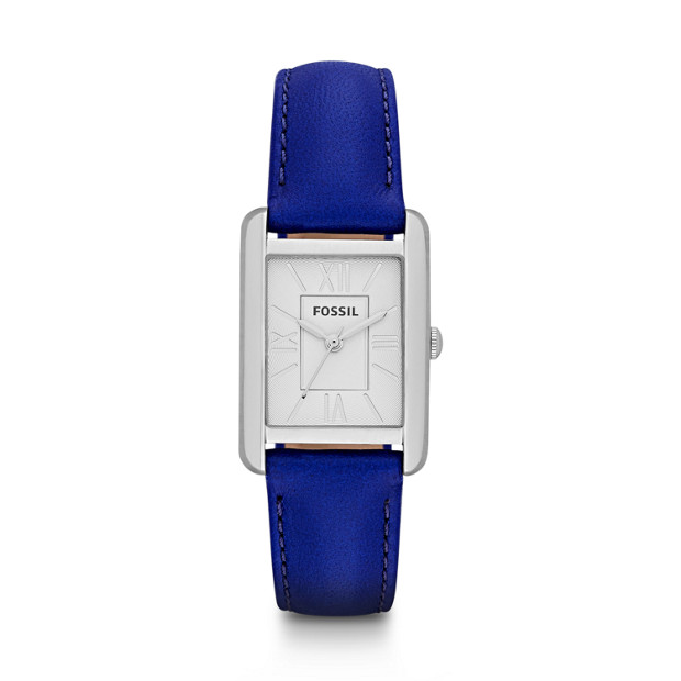Florence Three-Hand Leather Watch - Blue
