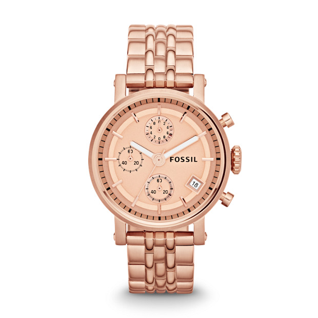 Original Boyfriend Chronograph Rose-Tone Stainless Steel Watch
