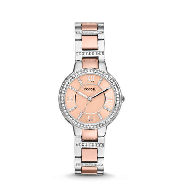 Virginia Three-Hand Stainless Steel Watch - Two-Tone