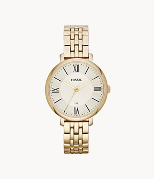 Jacqueline Gold-Tone Stainless Steel Watch